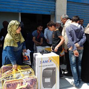 食糧、生活必需品等の支援物資の配布